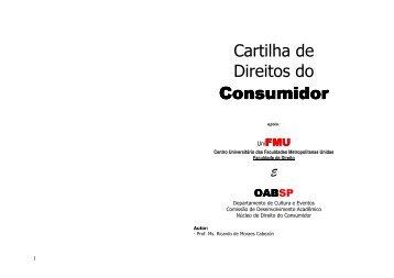 Cartilha de Direitos do Consumidor Consumidor - Fmu