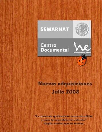 Julio - Instituto Nacional de Ecología