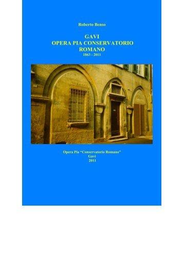 scarica il libro di Roberto Benso - Home page Conservatorio Romano