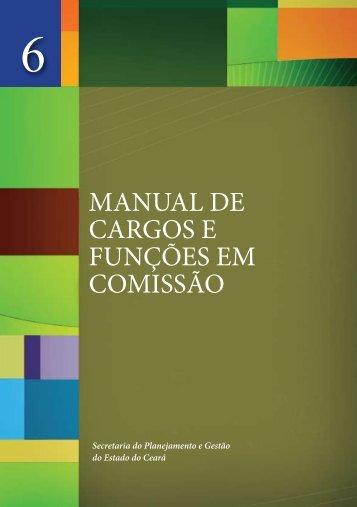 MANUAL DE CARGOS E FUNÇÕES EM COMISSÃO