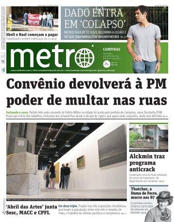 Convênio devolverá à PM poder de multar nas ruas - Metro