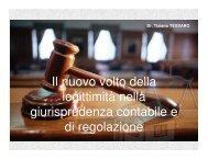Il nuovo volto della legittimità nella giurisprudenza ... - tiziano tessaro