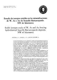 Estudio de isótopos estables en las mineralizaciones de W ... - RUC