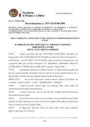 Determinazione n. 2597 del 05/08/2008 - Provincia di Pesaro e Urbino