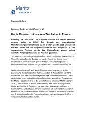 Maritz Research mit starkem Wachstum in Europa