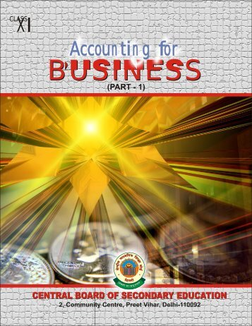 Accounting for Business-1 - CBSE