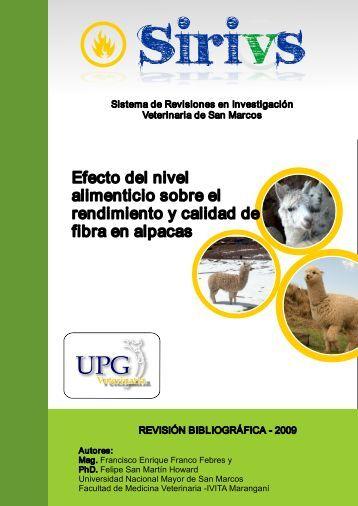 Efecto del nivel alimenticio sobre el rendimiento de fibra en alpacas