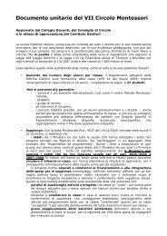 Documento unitario del VII Circolo Montessori - Lorenzo Grassi