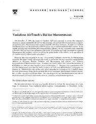 Vodafone AirTouch's Bid for Mannesmann