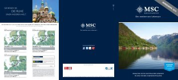 Die Ruhe - MSC Kreuzfahrten