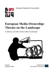 Threats on the Landscape. A Survey of who owns what in Europe, by