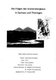 Die folgen des Uranerzbergbau in Sachsen und Thüringen