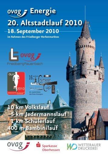 Energie 20. Altstadtlauf 2010 - Oberhessen Cup