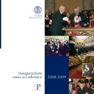 Inaugurazione dell'anno accademico 2008-2009 - Università degli ...