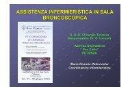 Assistenza infermieristica in sala broncoscopica - Ospedale San Carlo