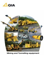 Mining and Tunnelling equipment