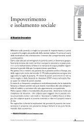 Impoverimento e isolamento sociale - Enaip