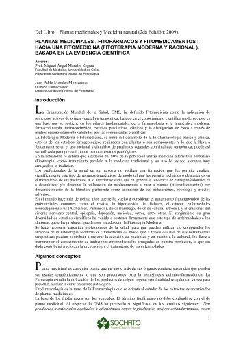 Plantas Medicinales, Fitofarmacos y Fitomedicamentos