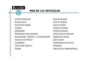 Catalogo de Productos Formitec