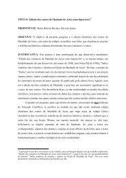 TÍTULO: Edição dos contos de Machado de Assis como hipertexto ...