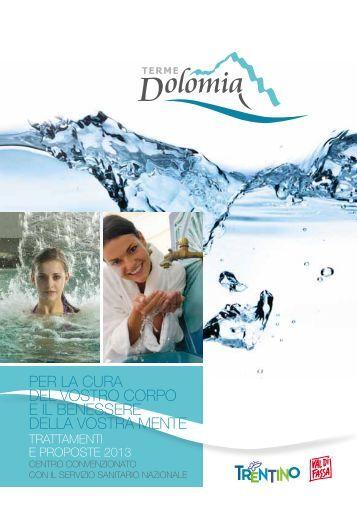 scarica la brochure con i prezzi delle terme dolomia - Trentino