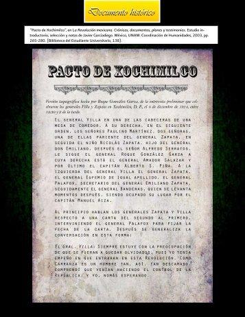 PACTO DE XOCHIMILCO - INEHRM