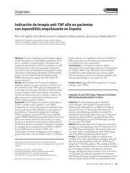 Indicación de terapia anti-TNF alfa en pacientes con espondilitis ...