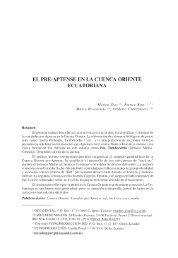 El pre-Aptense en la Cuenca Oriente ecuatoriana - IRD