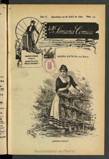 La semana cómica. 10 de abril 1891, nº 13 - Memoria de Madrid