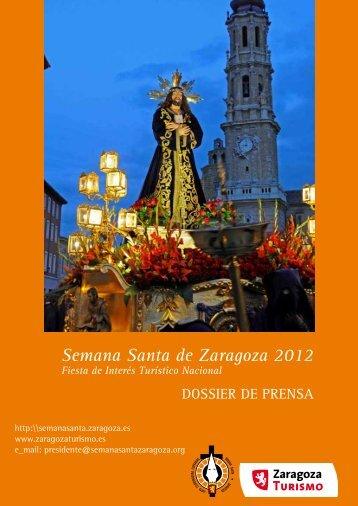Dossier de prensa de la Semana Santa - Ayuntamiento de Zaragoza