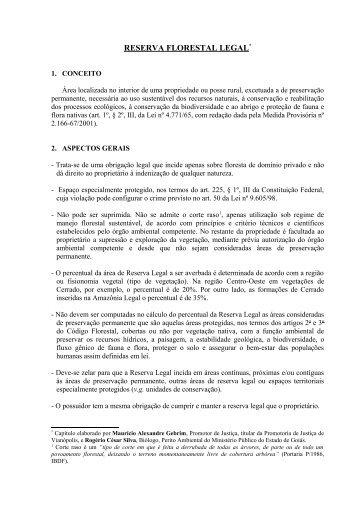 Reserva Florestal Legal - Ministério Público do Estado de Goiás
