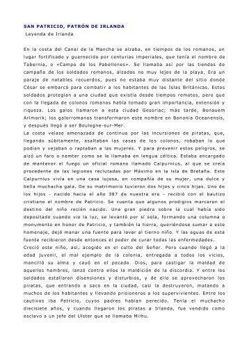 SAN PATRICIO, PATRÓN DE IRLANDA - Catedu