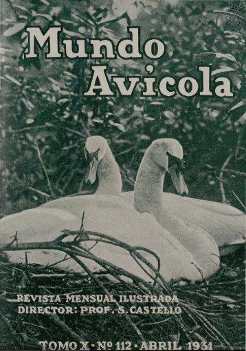 Real Escuela de Avicultura. Mundo Avicola 1927