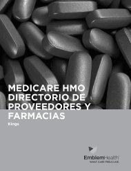 medicare hmo directorio de proveedores y farmacias - EmblemHealth