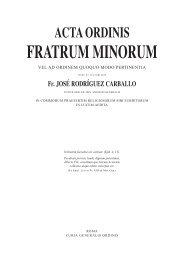 acta ordinis fratrum minorum - Orden de Frailes Menores Provincia ...