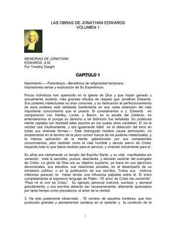 las obras de jonathan edwards volumen 1 - Iglesia Reformada