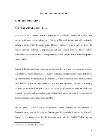 Capítulo V. Marco de referencia - Universidad de Oriente