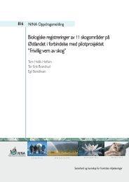 Biologiske registreringer av 11 skogområder på Østlandet i ... - NINA