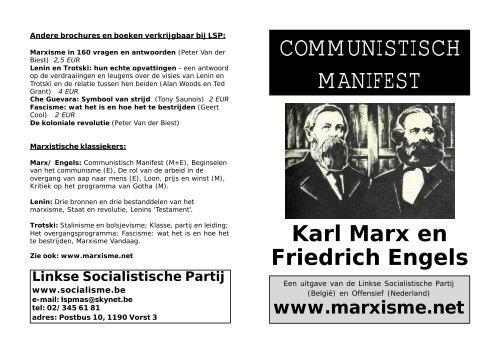 Marx En Engels Manifest Van De Communistische Partij Lsp