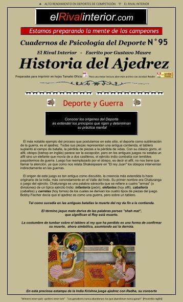 Cuaderno N° 95 ORÍGENES - Historia del Ajedrez - El Rival Interior