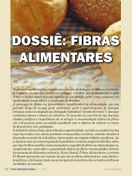 DOSSIÊ: FIBRAS ALIMENTARES