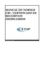 MANUAL DE NORMAS CRI - CERTIFICADO DE ... - Cetip