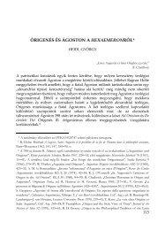 Heidl György: Órigenés és Ágoston a Hexaemeronról