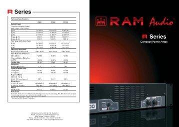 """R"" Series - RAM Audio"