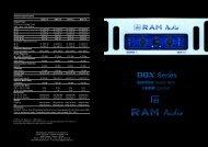 DQX Series catalogue - RAM Audio