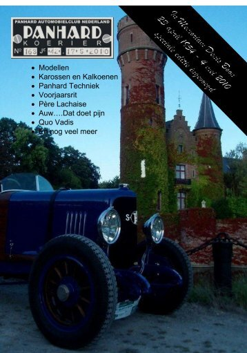 Lees Panhard Koerier 163 online - Panhardclub Nederland