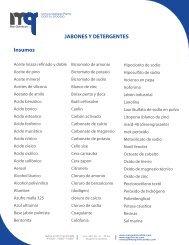 JABONES Y DETERGENTES Insumos