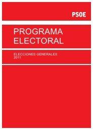 Programa Electoral General 2011 - PSOE