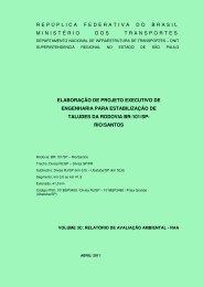 Relatório de Avaliação Ambiental - DNIT
