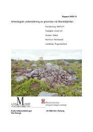 Arkeologisk undersökning av gravröse vid Älandsfjärden